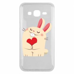 Чехол для Samsung J5 2015 Rabbit with heart