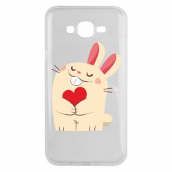 Чехол для Samsung J7 2015 Rabbit with heart