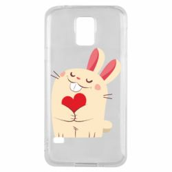 Чехол для Samsung S5 Rabbit with heart