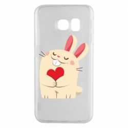 Чехол для Samsung S6 EDGE Rabbit with heart