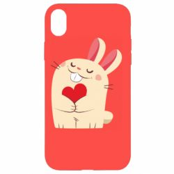 Чехол для iPhone XR Rabbit with heart