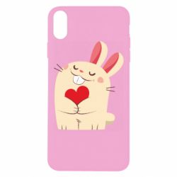 Чехол для iPhone Xs Max Rabbit with heart