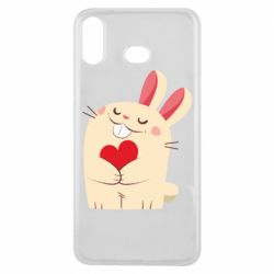 Чехол для Samsung A6s Rabbit with heart