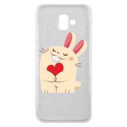 Чехол для Samsung J6 Plus 2018 Rabbit with heart