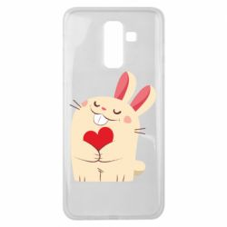 Чехол для Samsung J8 2018 Rabbit with heart