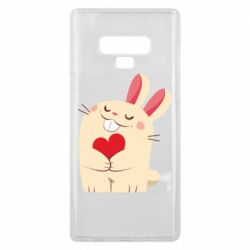 Чехол для Samsung Note 9 Rabbit with heart