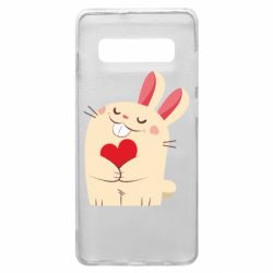 Чехол для Samsung S10+ Rabbit with heart