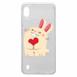 Чехол для Samsung A10 Rabbit with heart