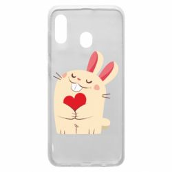 Чехол для Samsung A20 Rabbit with heart