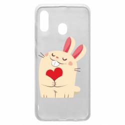 Чехол для Samsung A30 Rabbit with heart