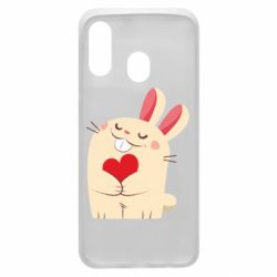 Чехол для Samsung A40 Rabbit with heart