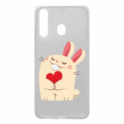 Чехол для Samsung A60 Rabbit with heart