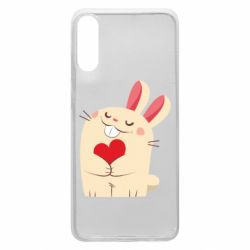 Чехол для Samsung A70 Rabbit with heart