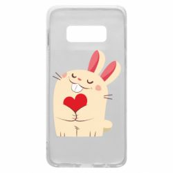 Чехол для Samsung S10e Rabbit with heart
