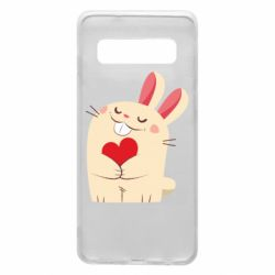 Чехол для Samsung S10 Rabbit with heart