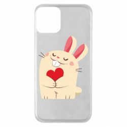Чехол для iPhone 11 Rabbit with heart