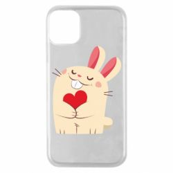 Чехол для iPhone 11 Pro Rabbit with heart