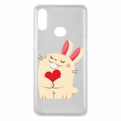 Чехол для Samsung A10s Rabbit with heart