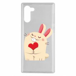 Чехол для Samsung Note 10 Rabbit with heart