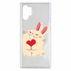 Чехол для Samsung Note 10 Plus Rabbit with heart