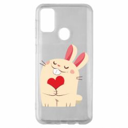 Чехол для Samsung M30s Rabbit with heart