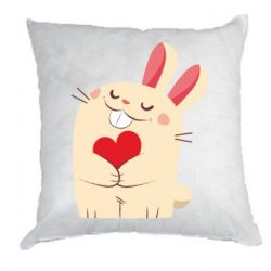 Подушка Rabbit with heart