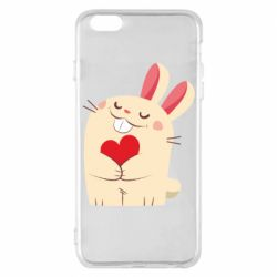 Чехол для iPhone 6 Plus/6S Plus Rabbit with heart