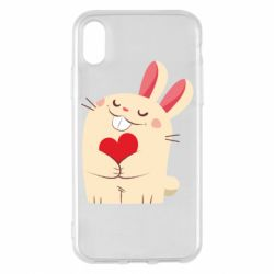 Чехол для iPhone X/Xs Rabbit with heart