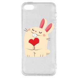 Чехол для iPhone5/5S/SE Rabbit with heart