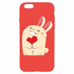 Чехол для iPhone 6/6S Rabbit with heart