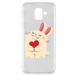 Чехол для Samsung A6 2018 Rabbit with heart