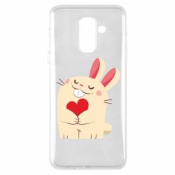 Чехол для Samsung A6+ 2018 Rabbit with heart