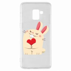 Чехол для Samsung A8+ 2018 Rabbit with heart