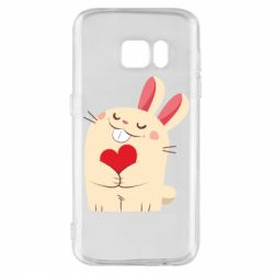Чехол для Samsung S7 Rabbit with heart