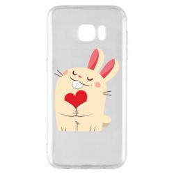 Чехол для Samsung S7 EDGE Rabbit with heart