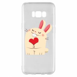 Чехол для Samsung S8+ Rabbit with heart