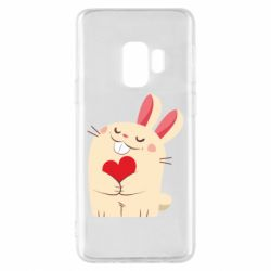Чехол для Samsung S9 Rabbit with heart