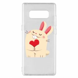Чехол для Samsung Note 8 Rabbit with heart