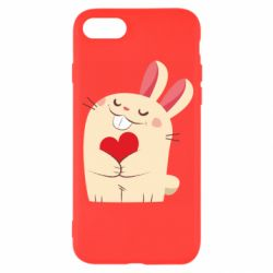 Чехол для iPhone 8 Rabbit with heart