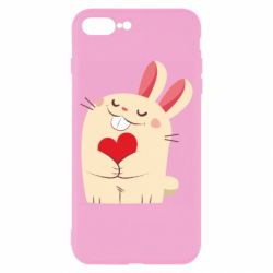 Чехол для iPhone 8 Plus Rabbit with heart