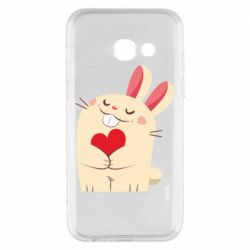 Чехол для Samsung A3 2017 Rabbit with heart