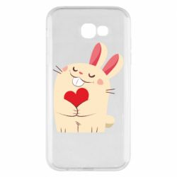 Чехол для Samsung A7 2017 Rabbit with heart