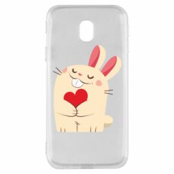 Чехол для Samsung J3 2017 Rabbit with heart