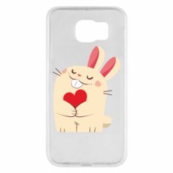Чехол для Samsung S6 Rabbit with heart
