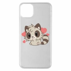 Чехол для iPhone 11 Pro Max Raccoon chibi