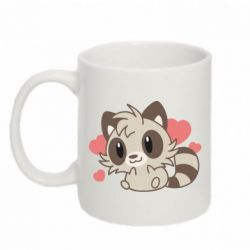Кружка 320ml Raccoon chibi