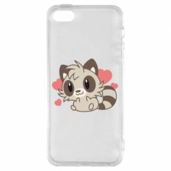 Чехол для iPhone5/5S/SE Raccoon chibi