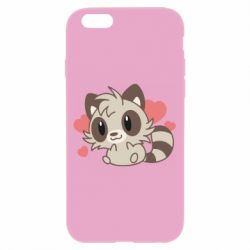 Чехол для iPhone 6/6S Raccoon chibi