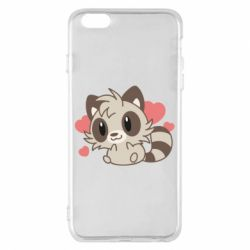 Чехол для iPhone 6 Plus/6S Plus Raccoon chibi