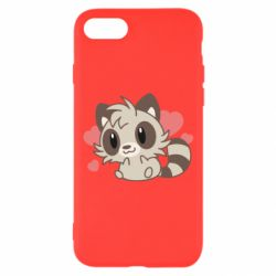 Чехол для iPhone 7 Raccoon chibi